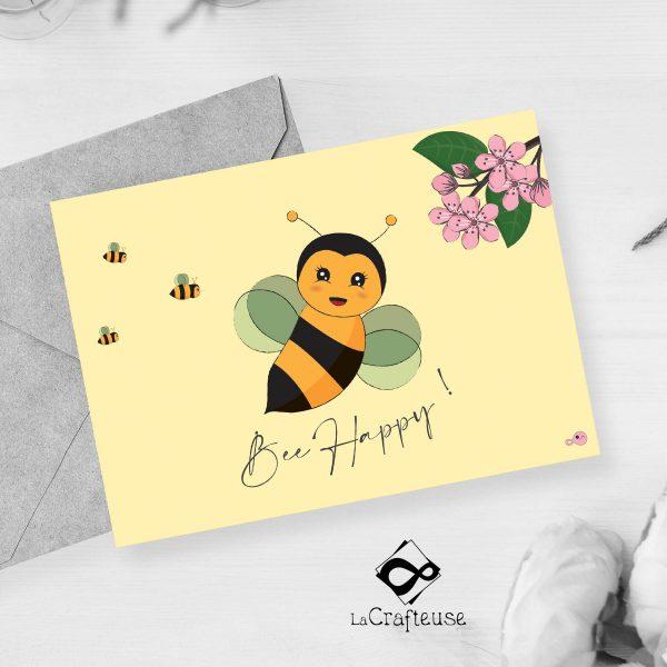carte postale abeille 100% français