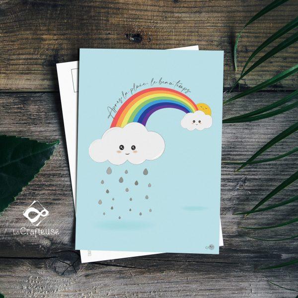 carte postale arc-en-ciel made in france