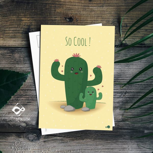 carte postale cactus made in france