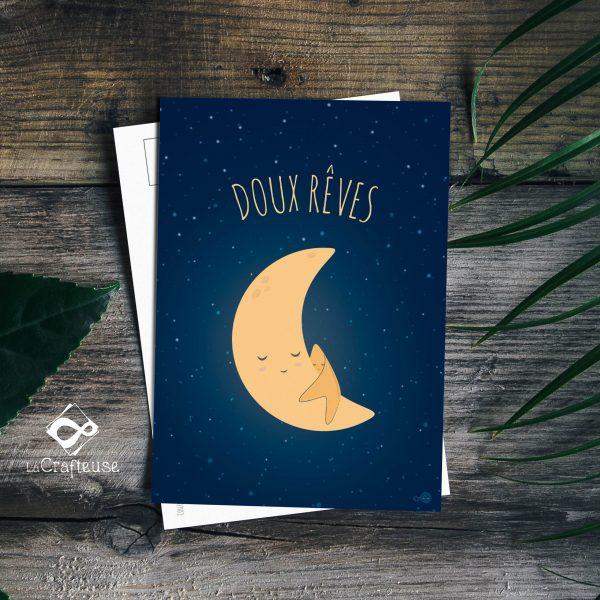 carte postale lune création française