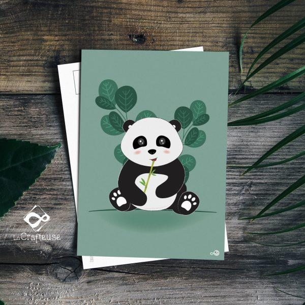 carte postale panda création graphique