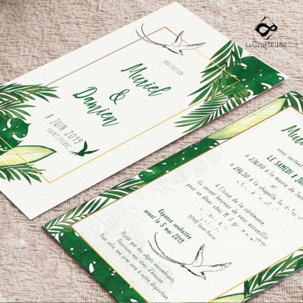 invitation tropical