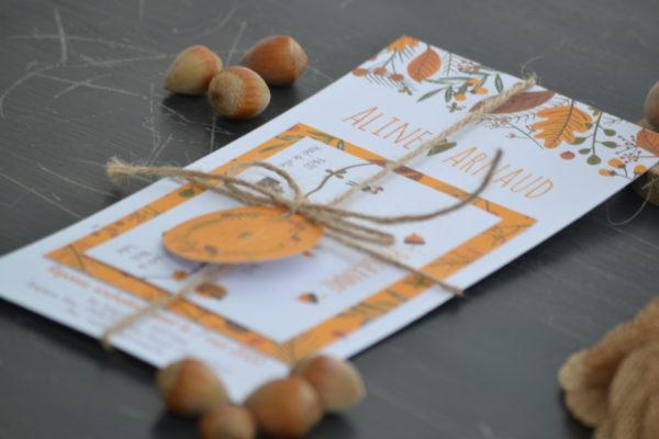 invitation automne