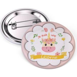 badge je suis une licorne