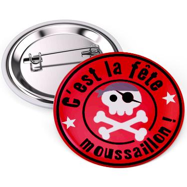 badge pirate pour anniversaire