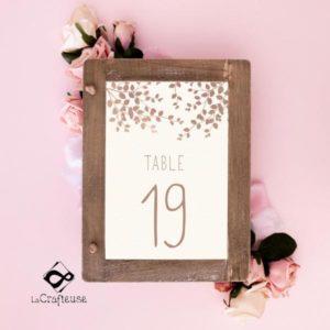 numero de table pour mariage