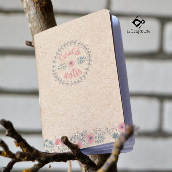 carnet de note sur le thème champêtre