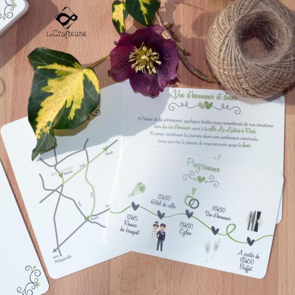carton pour pochette mariage
