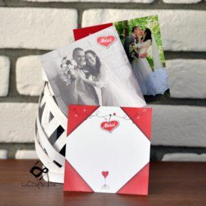 carton remerciement mariage associé au faire-part