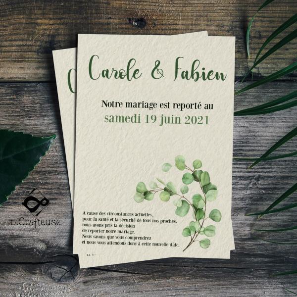 change the date pour prévenir ses invités au mariage
