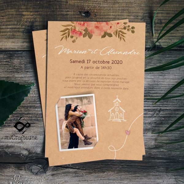 change the date mariage sur le thème champêtre