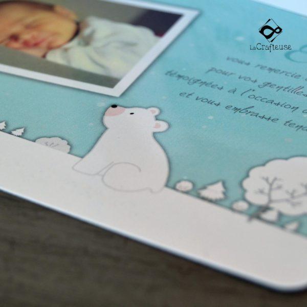 faire part de naissance petit ours blanc