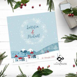invitation mariage hiver