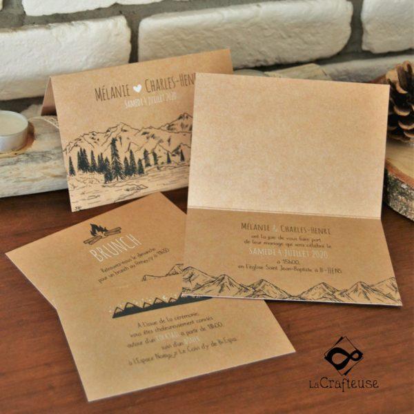 invitation mariage montagne