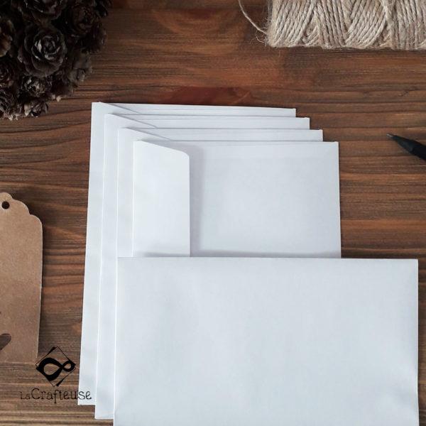 enveloppe blanche 165x165