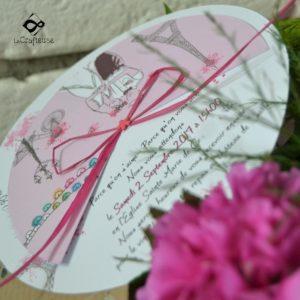 Faire-part de mariage sur le thème de Paris