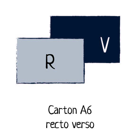 carton a6 recto verso