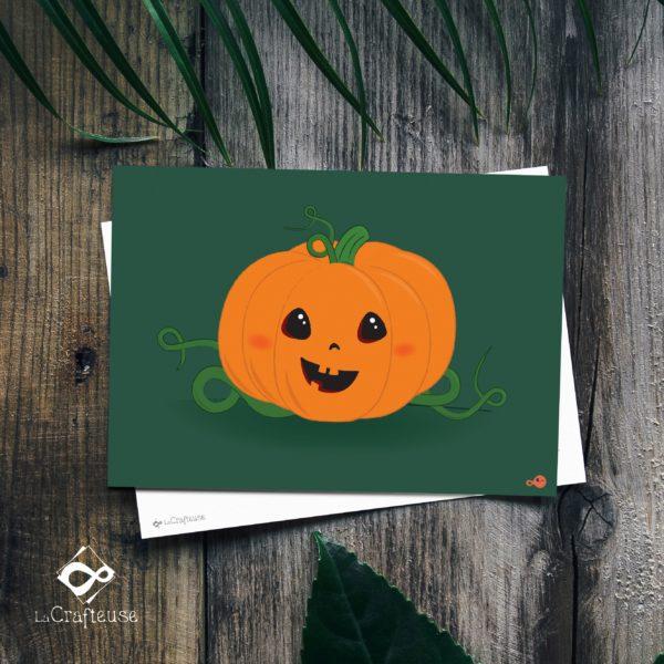 carte postale citrouille