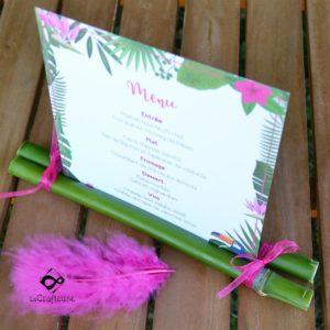 menu tropical pour mariage