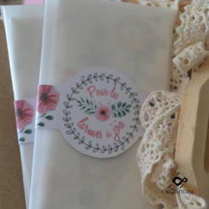 pochette larme de joie pour mariage champêtre