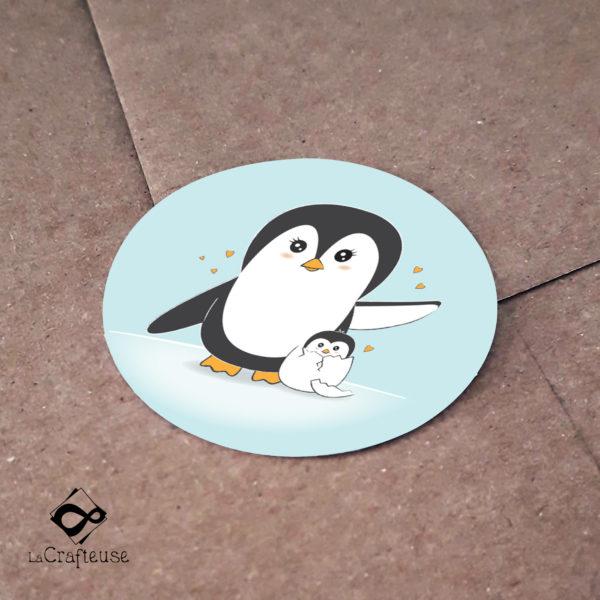 sticker pingouin 2