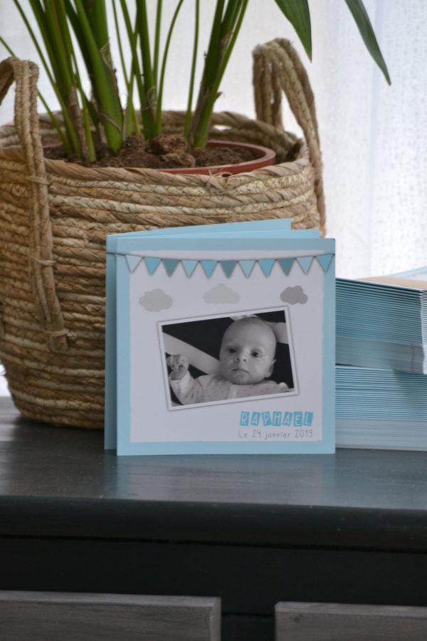 Idée de faire-part pour la naissance d'un garçon