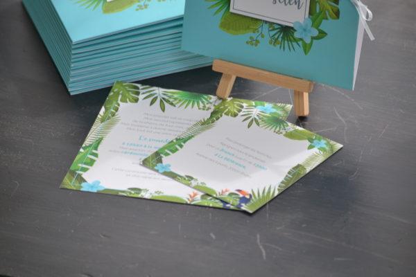 Invitation sur le thème tropical