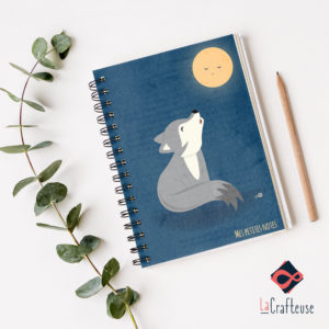 cahier spirale loup