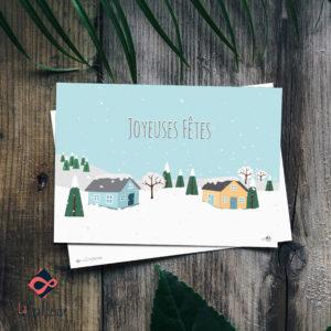 Carte Joyeuses fêtes création française