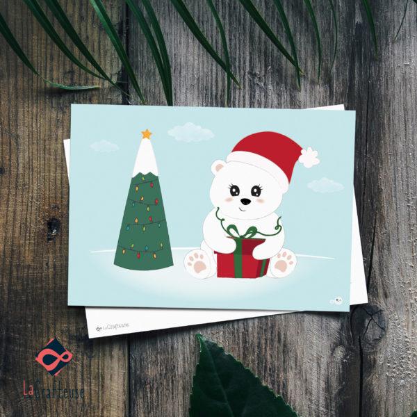 Carte de Noel artisanale