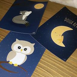 Carte postale artisanale française