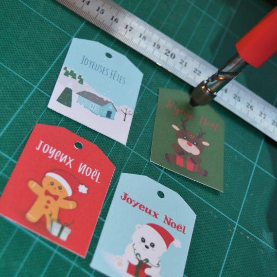 étiquettes cadeaux noël gratuite