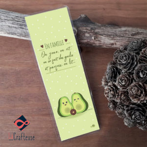 Marque page famille avocat