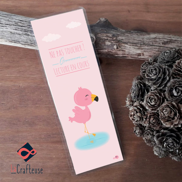 Marque page flamand rose