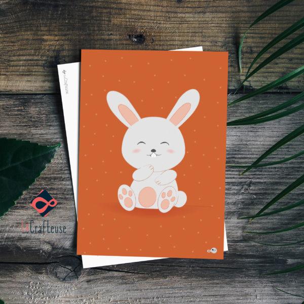 carte postale lapin mignon