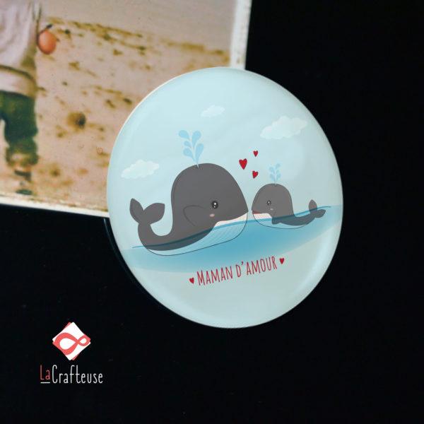 magnet original 38mm baleine déco frigo cadeau