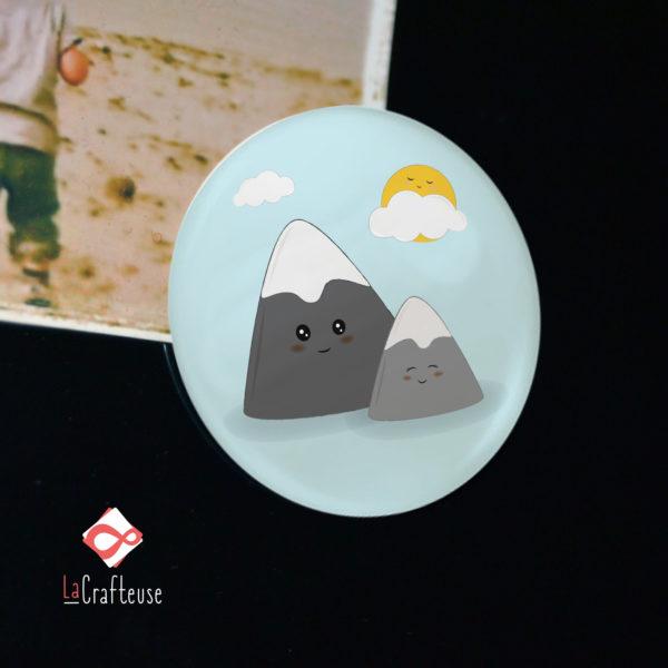 magnet 38 mm montagne artisan beauvais