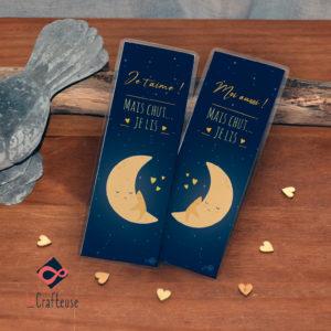 marque page duo lune-etoile saint valentin amoureux