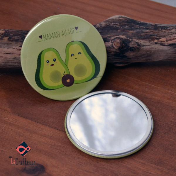 miroir de poche_75mm famille AVOCATS cadeau pas cher