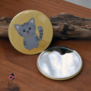 miroir chat cadeau artisan oise