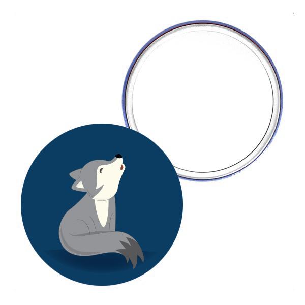 miroir de poche_75mm loup cadeau femme pas cher