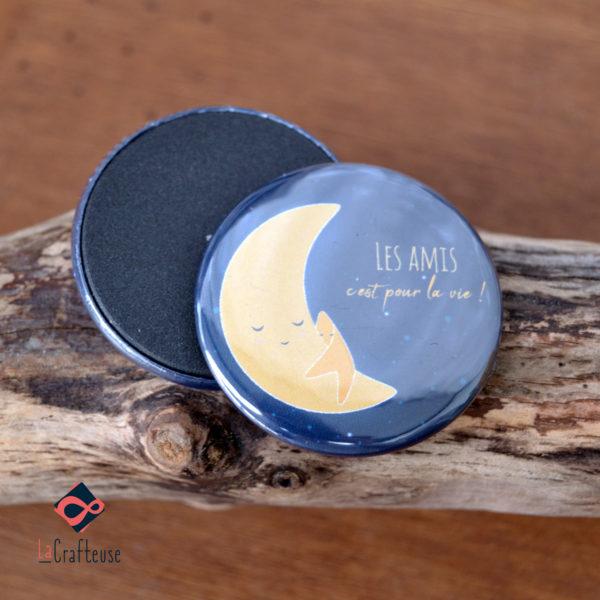 magnet etoile et lune calin cadeau pas cher