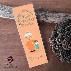 marque page cadeau fete des mamie personnalisé petit fils