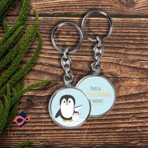 porte clé maman pingouin cadeau fete des meres