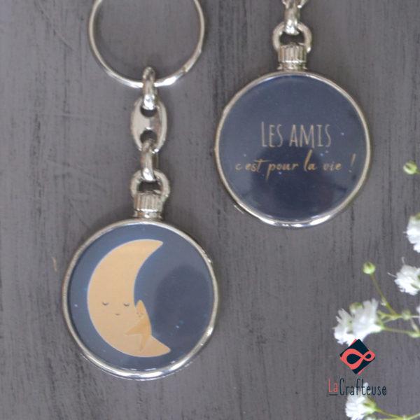 porte cle lune cadeau beauvais