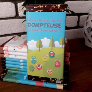 plaquette de chocolat personnalisé cadeau maitresse fin d'année