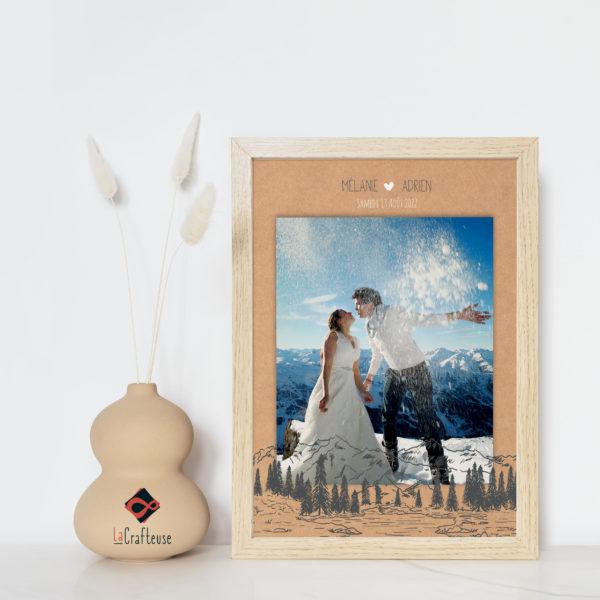 affiche mariage personnalisable montagne