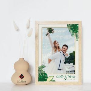 affiche personnalisable mariage tropical