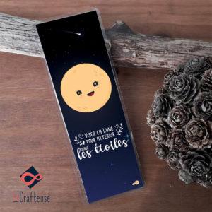 marque page artisanat francais avec message lune pour sorciere