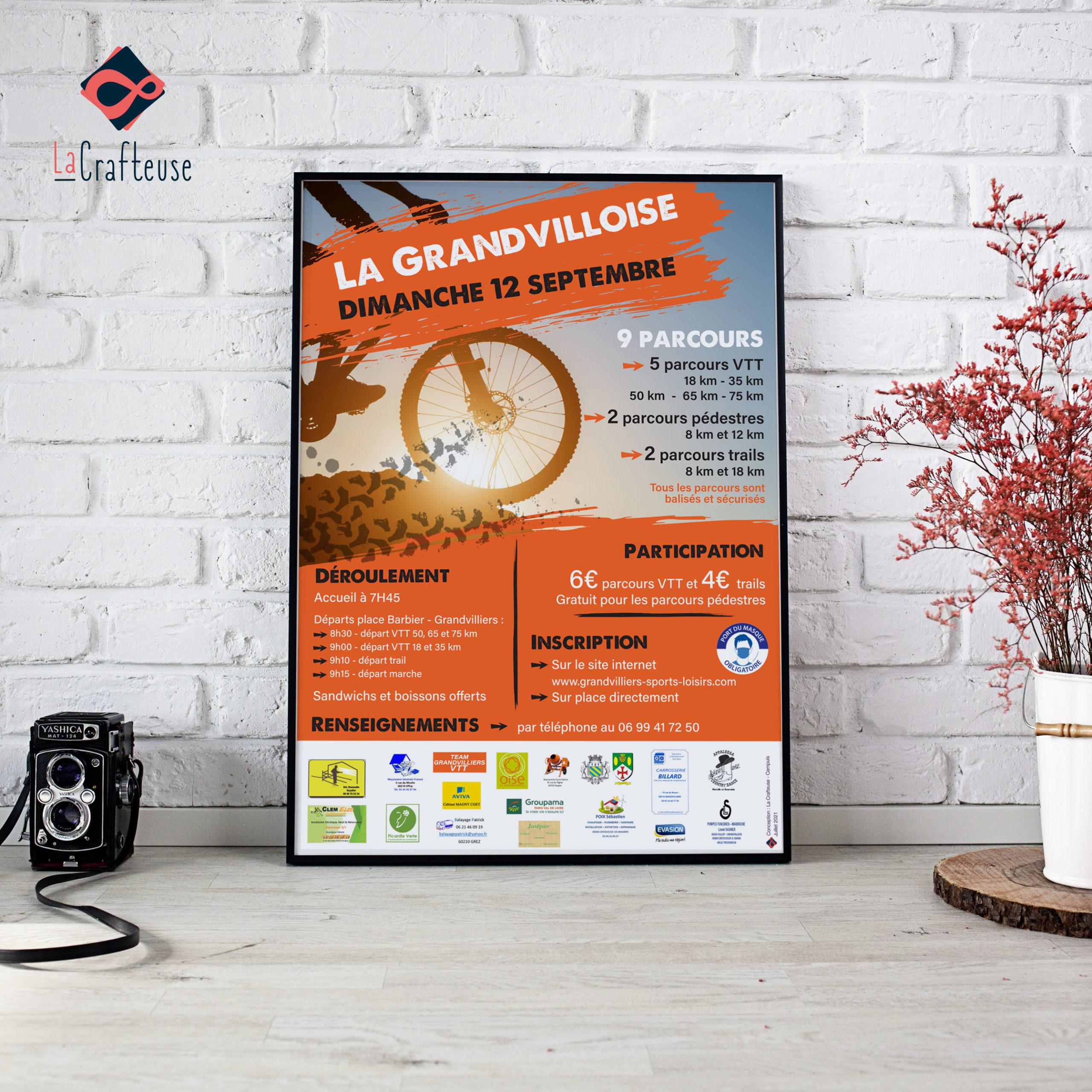 affiche course VTT sport grandvilliers